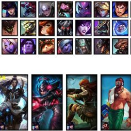 LoL Account NA S7 Unranked Champions 47 Skins 8 Rune Pages 2 Blue Essence 5955 RP 396